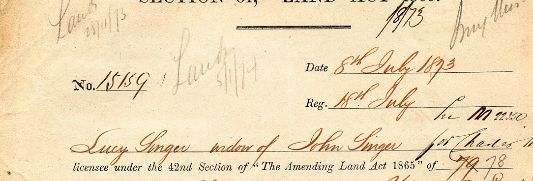 An image of Lucy's application to purchase the Lynchfield allotment