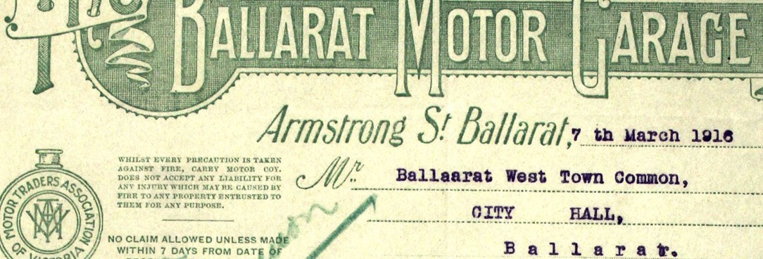 Ballarat Motor Garage Document