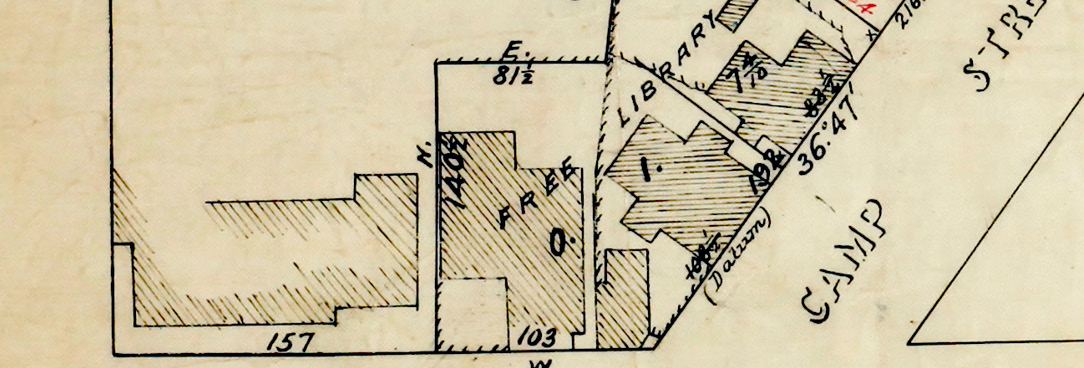 Map of Reserve Benevolent Asylum Committee 1878.