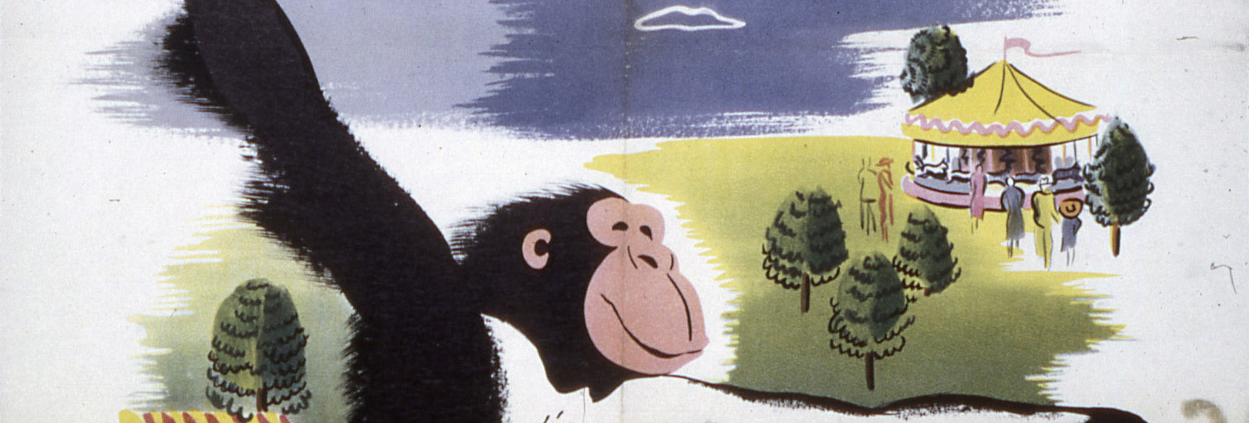 Come to the Zoo' Poster circa 1950s