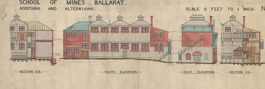 A plan of Ballarat Mining School