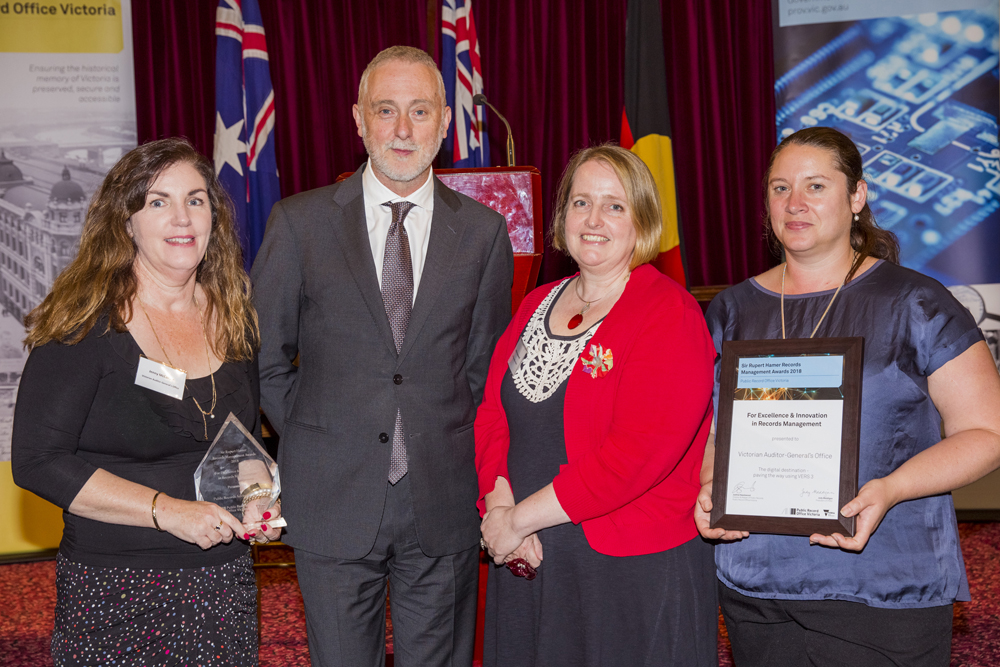 Victorian Auditor-General's Office receiving Hamer Award 2018