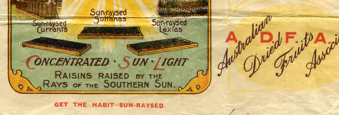 Sun-raysed fruits marketing 1919