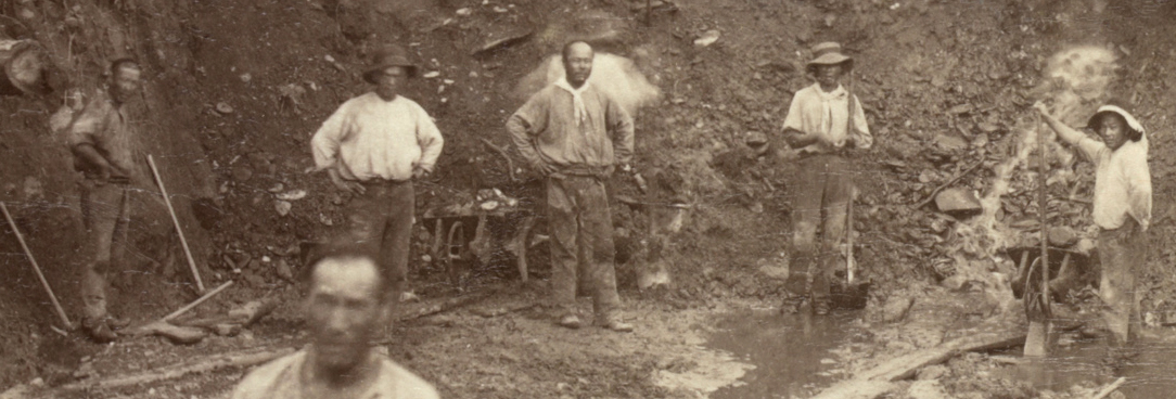 Image of chinese goldminers from 1800s