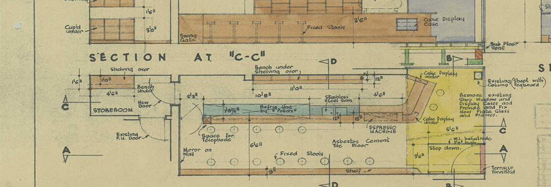 colour image of building plan
