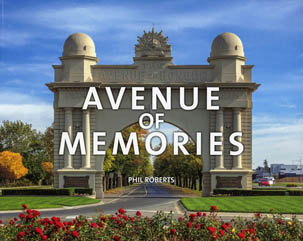 colour photo of the avenue of memories book cover