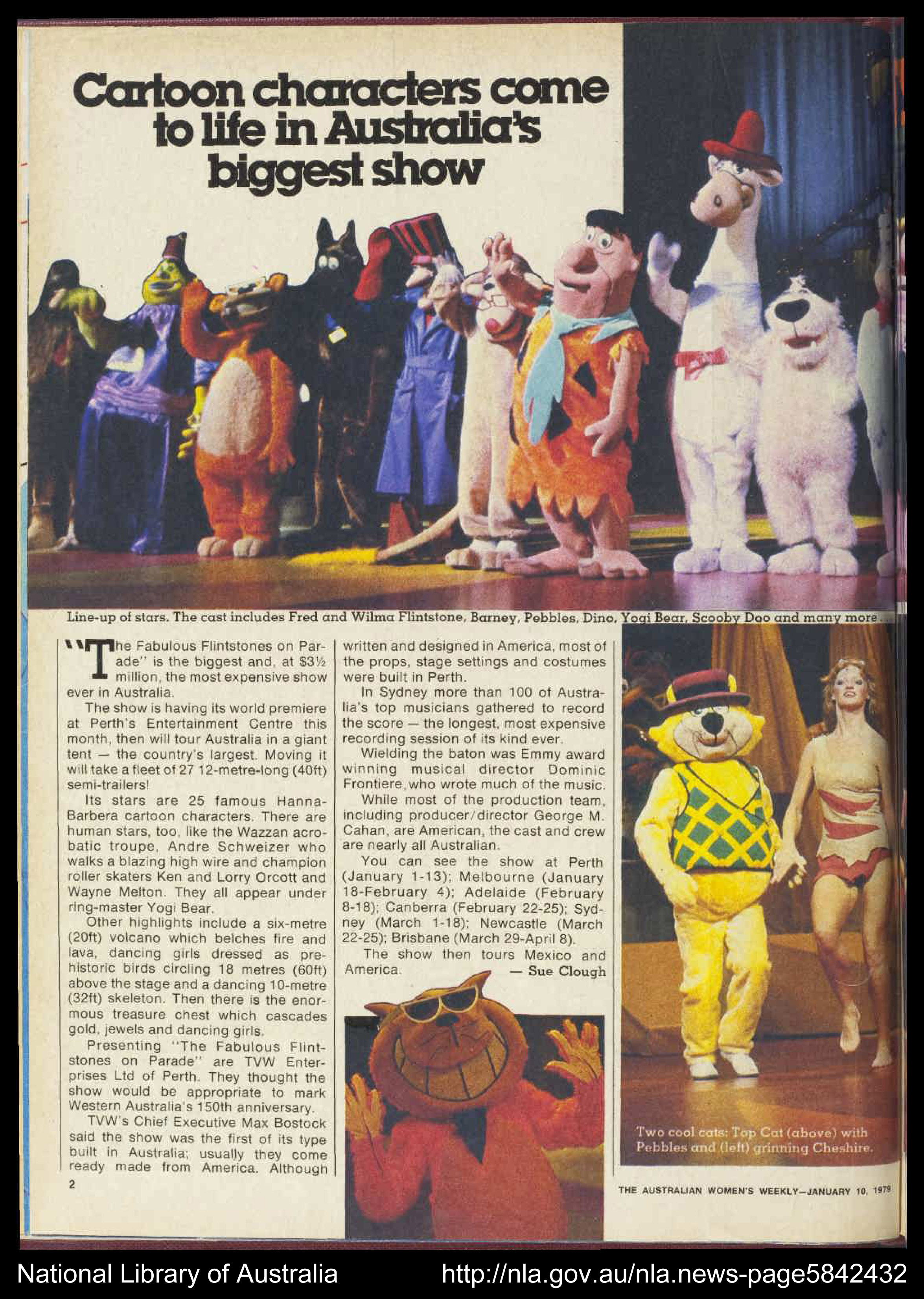 photo of a magazine featuring the show