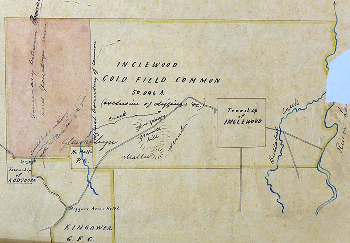 Plan of Inglewood Gold Field 1862