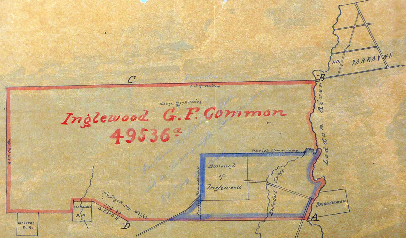 Plan of Inglewood Gold Field