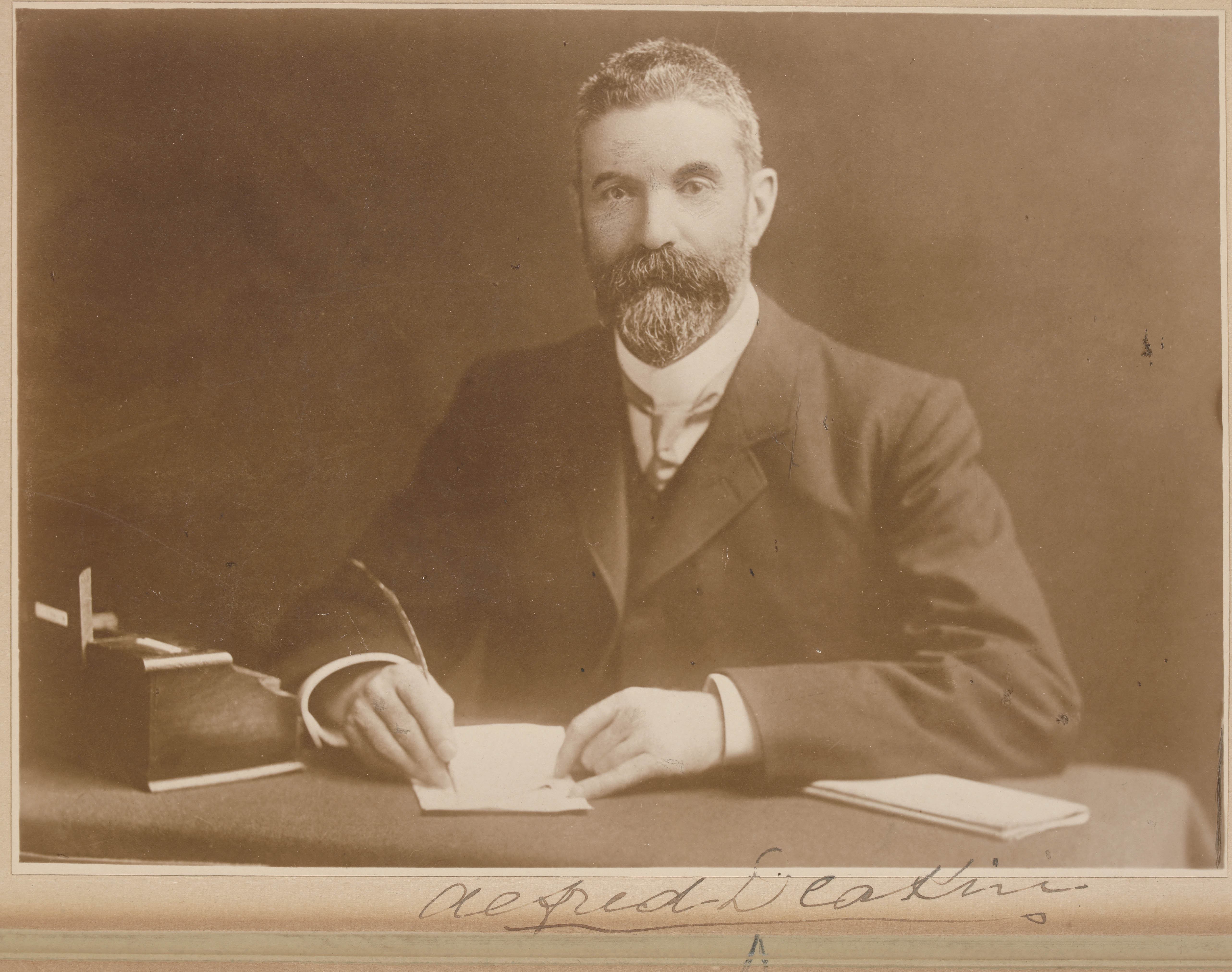 portrait of alfred deakin