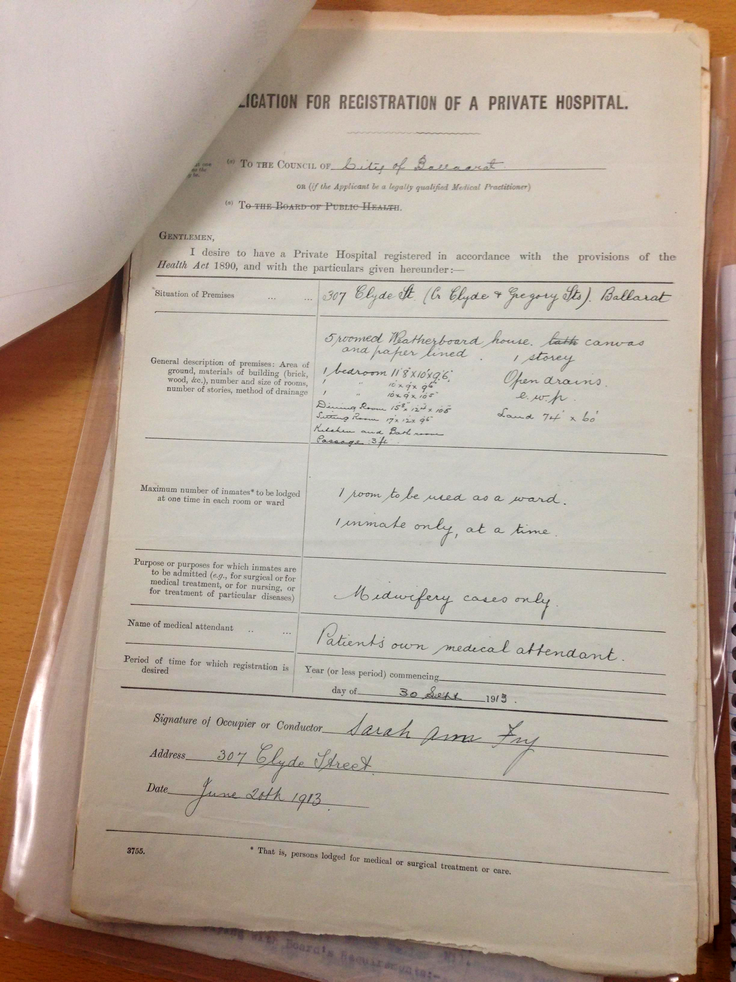 photo of one of the documents