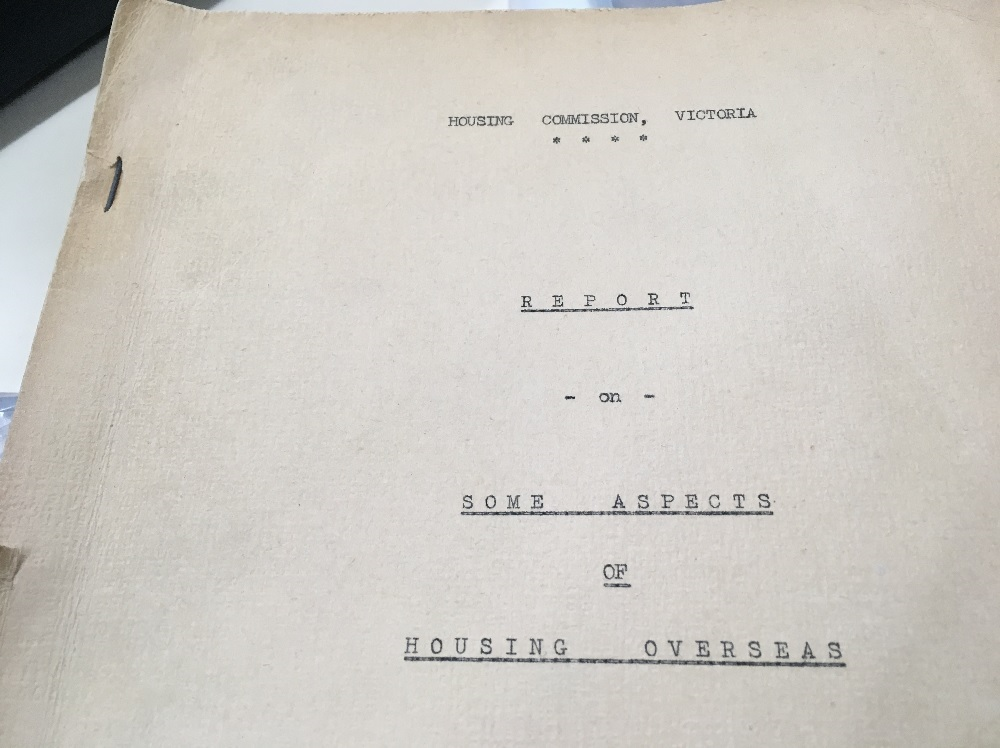 Front cover of old report