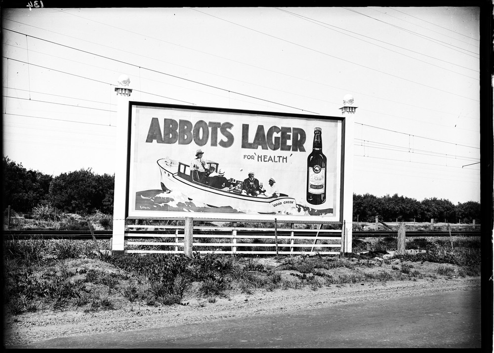 billboard for abbots lager