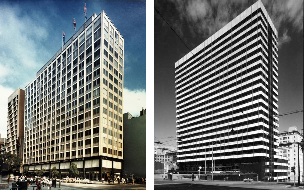 Building photos of Collins Street, 1966