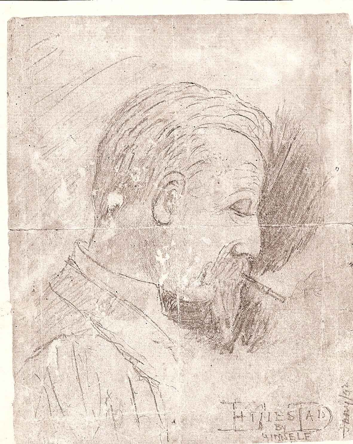 Old sketch of Ettie's Dad by himself, July 1892