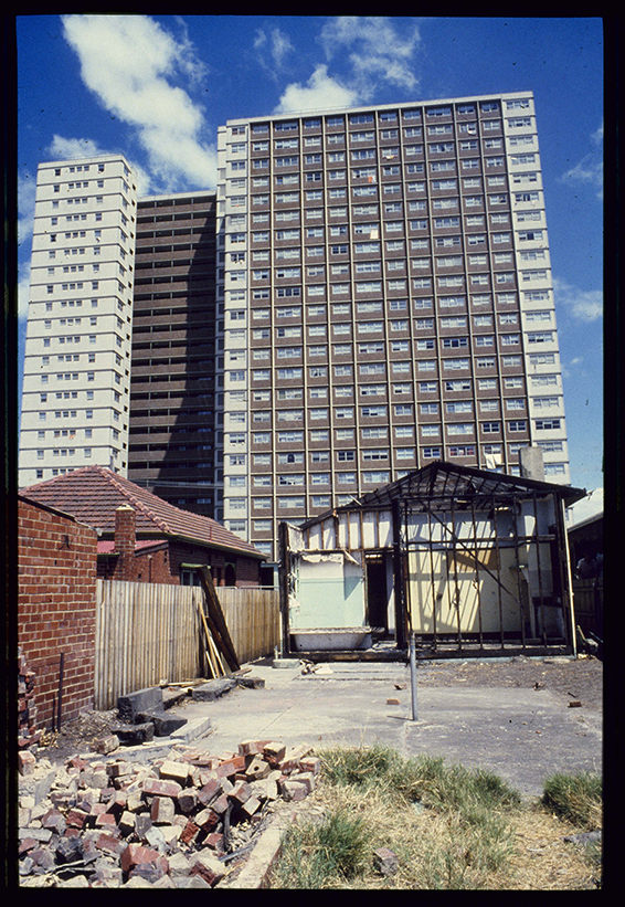 External Colour Photo Of Housing Commission Tower Flats In Richmond Melbourne