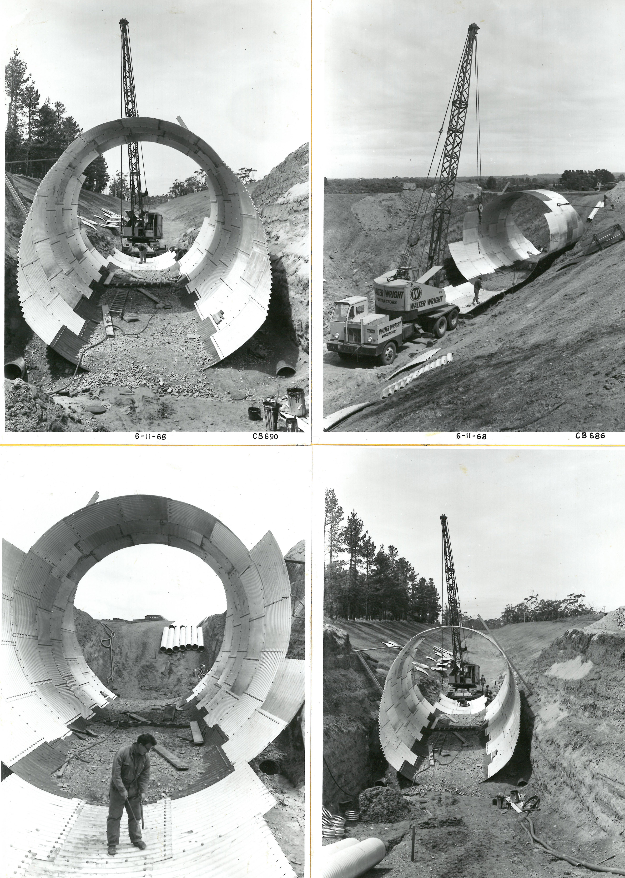 photo of construction on steel tunnels