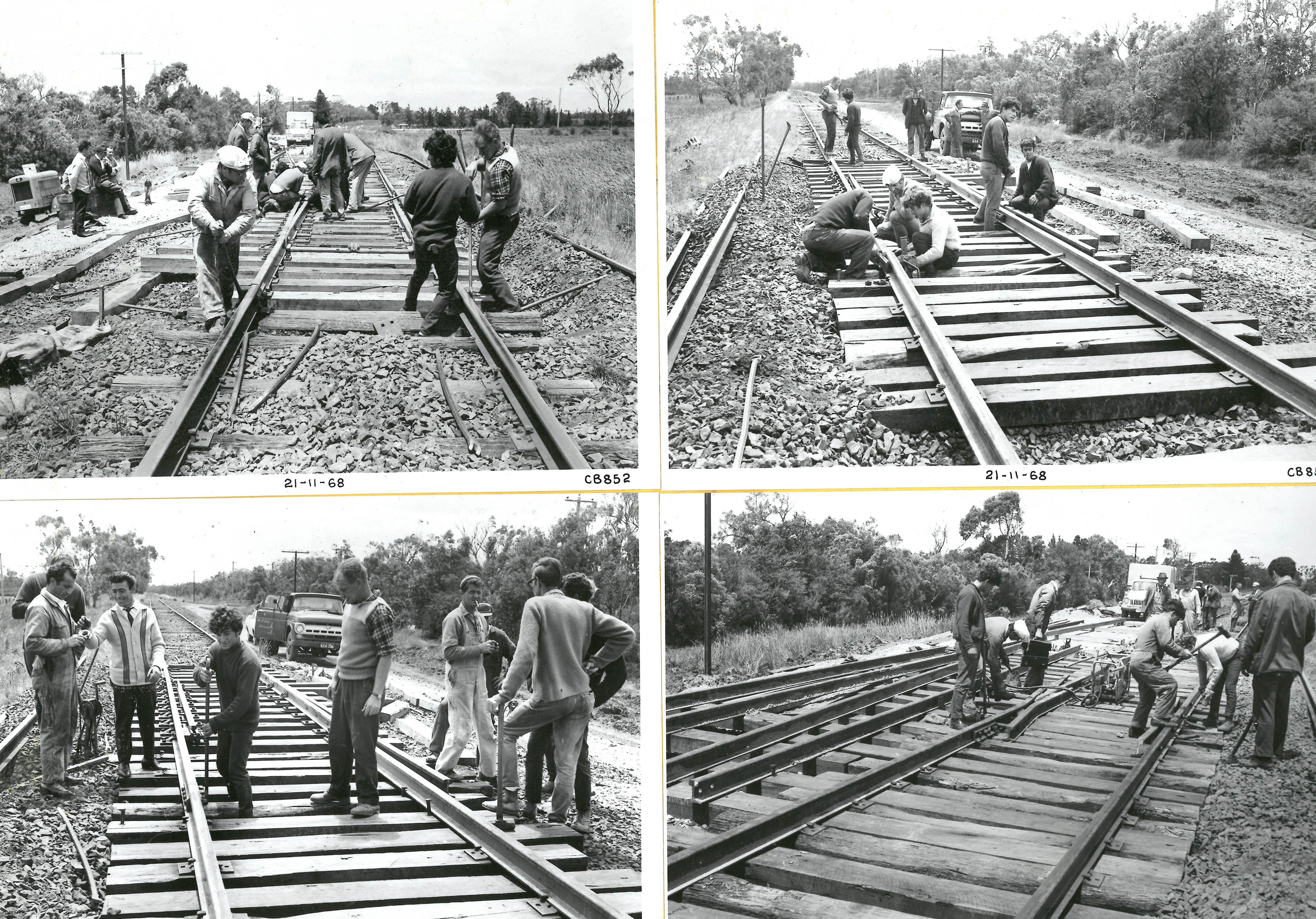 black and white photo of construction