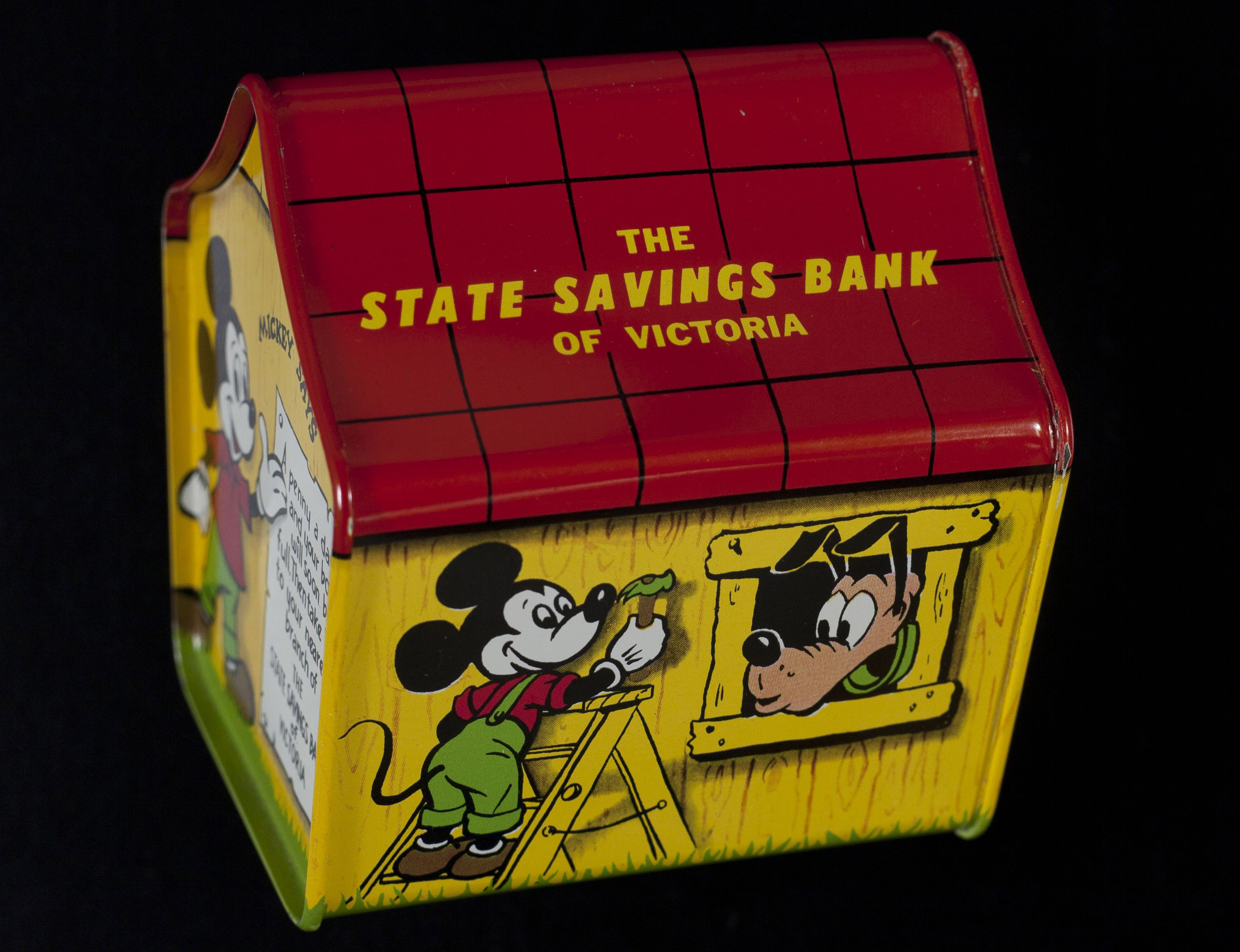 photo of the mickey mouse club money box