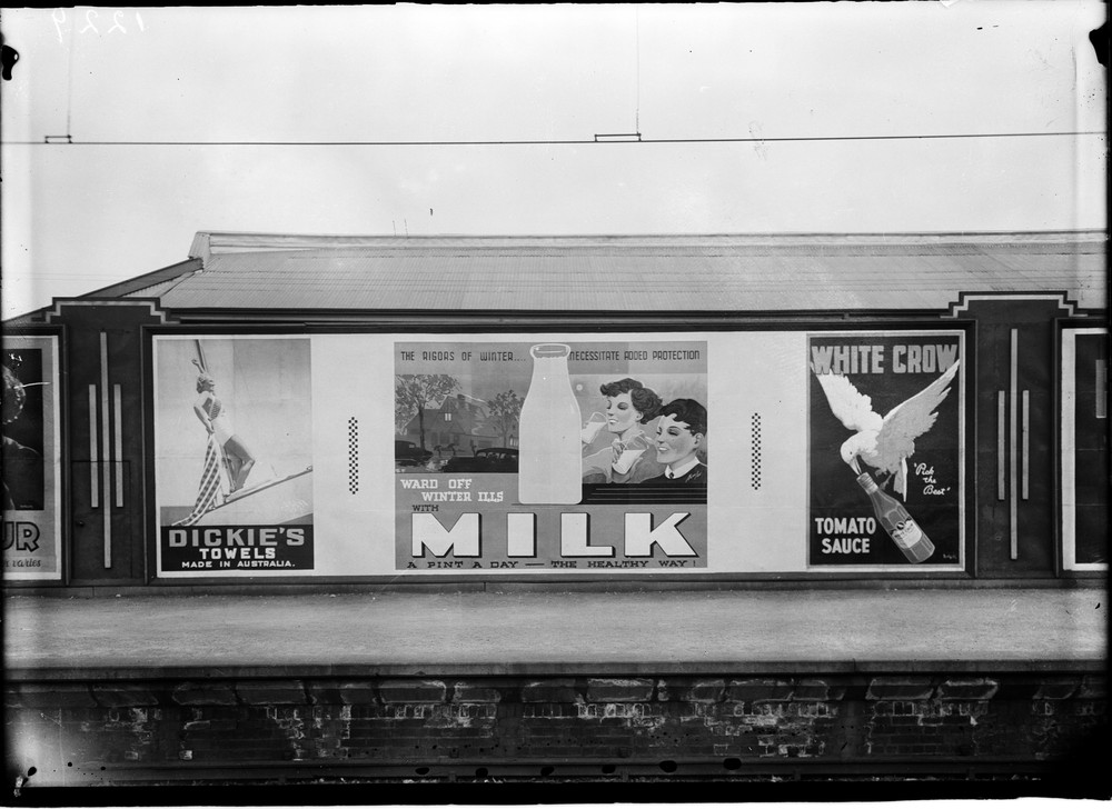 billboards for milk and white crow tomato sauce