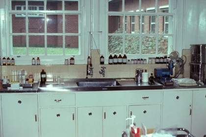The kitchen at Bundoora Repatriation Mental Hospital, now demolished, where Dr JFJ Cade experimented with lithium carbonate, circa 1993