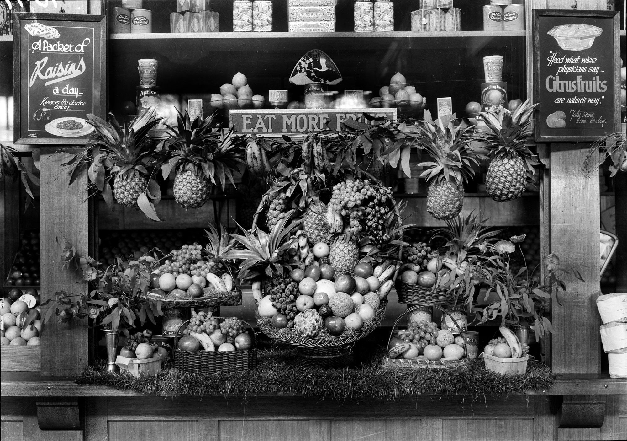 Dried Fruit Stall at Flinders Street Station circa 1920s