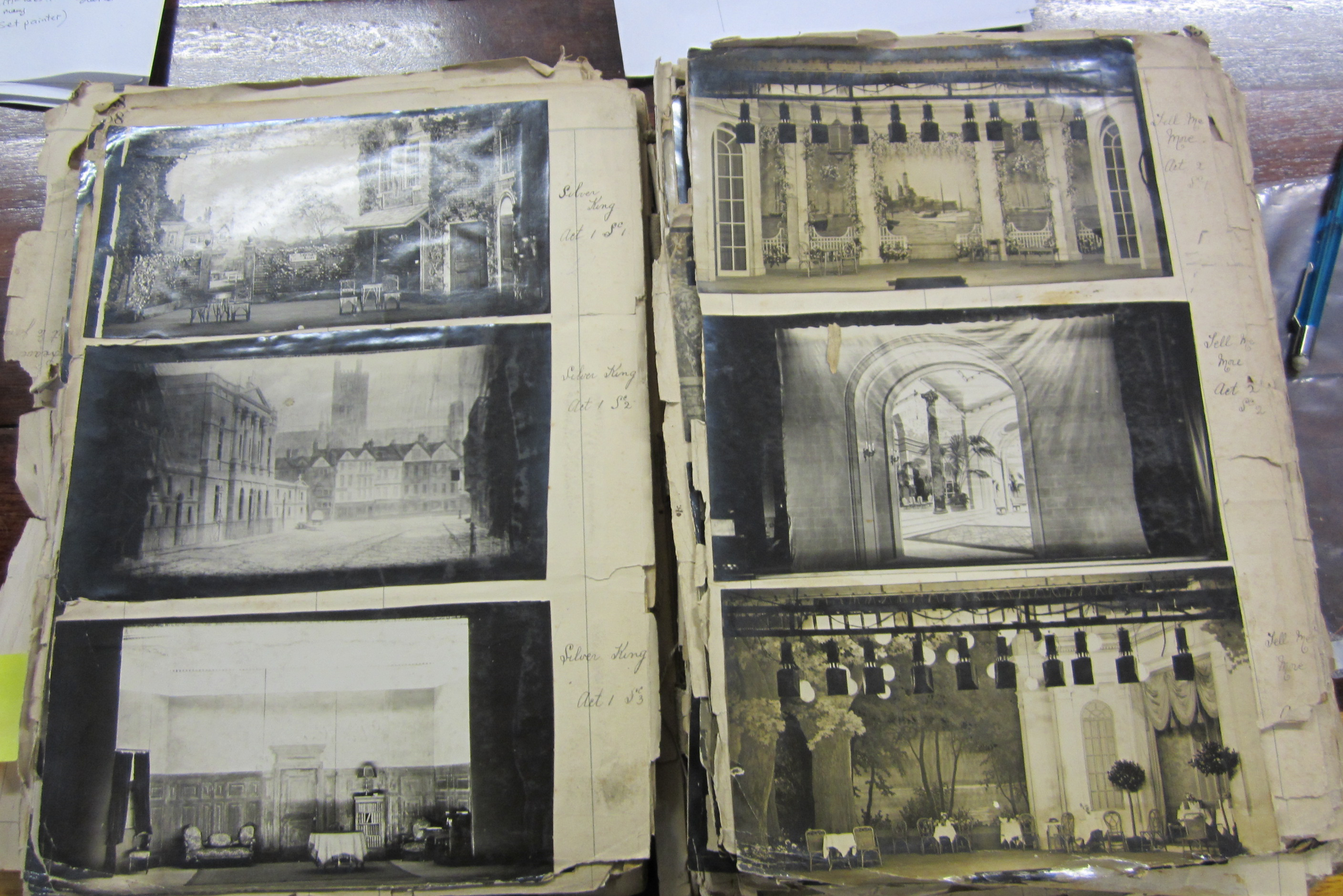 Inside one of the books showing photographs