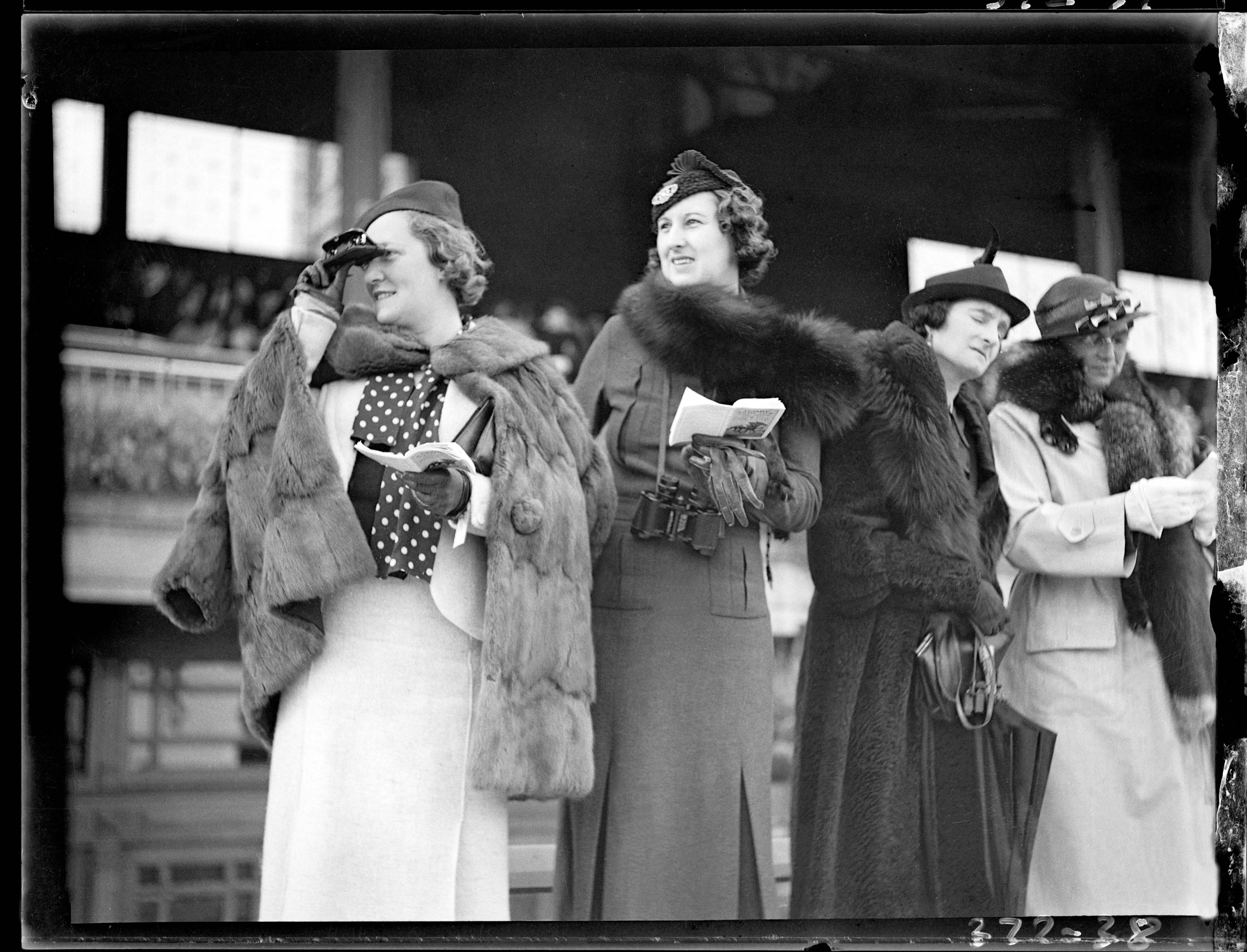 Photo of women in fur at the races
