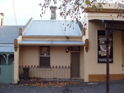 179 Adderley Street, West Melbourne. Built 1874