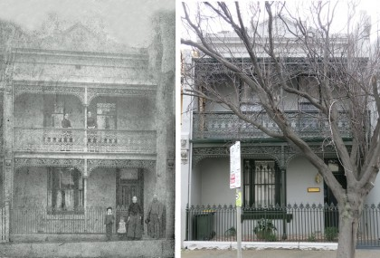 'Bodiwan', the Jones family home at 74 Hawke Street, West Melbourne