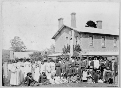 Group of Aboriginal residents at Coranderrk, 1903