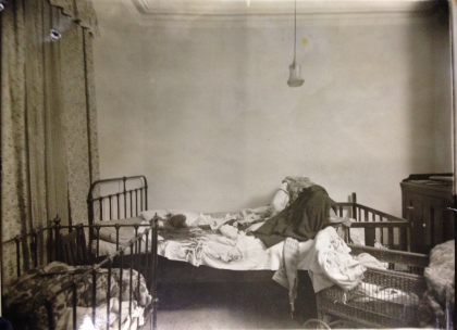 The scene of the crime – the bedroom where the bodies of the O'Brien family were discovered by friend and neighbour, George Bromell.