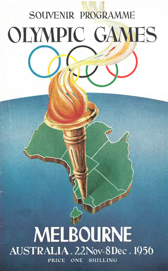 A colour photo of the front page of the Olympics program
