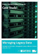 Managing Legacy Data Case Study Cover