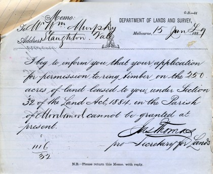 William Murphy, 'Refusal of permission to ring', 15 June 1889