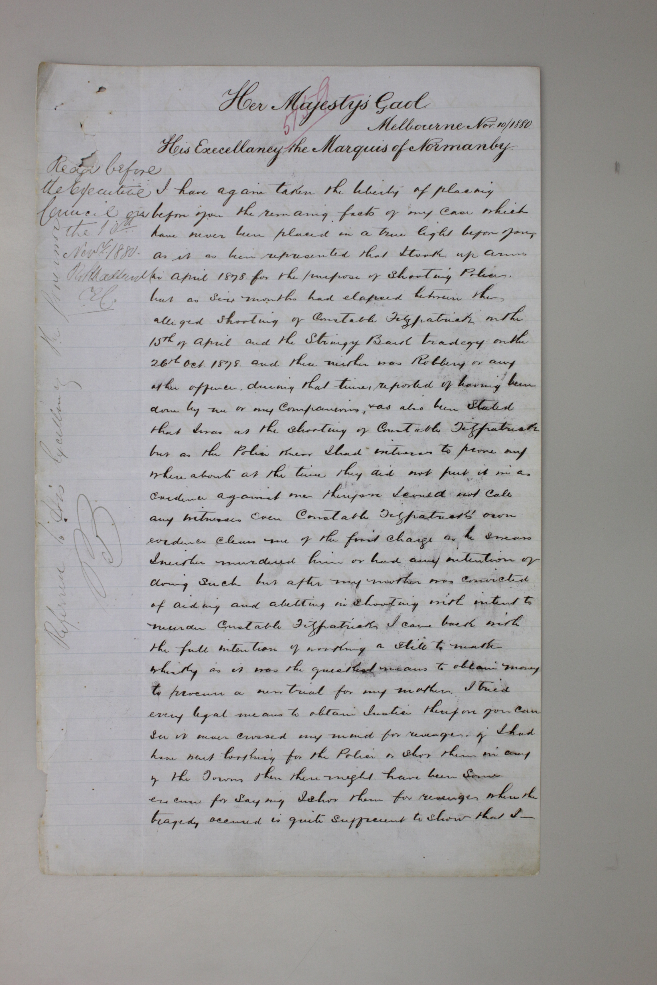 A photo of a hnadwritten letter