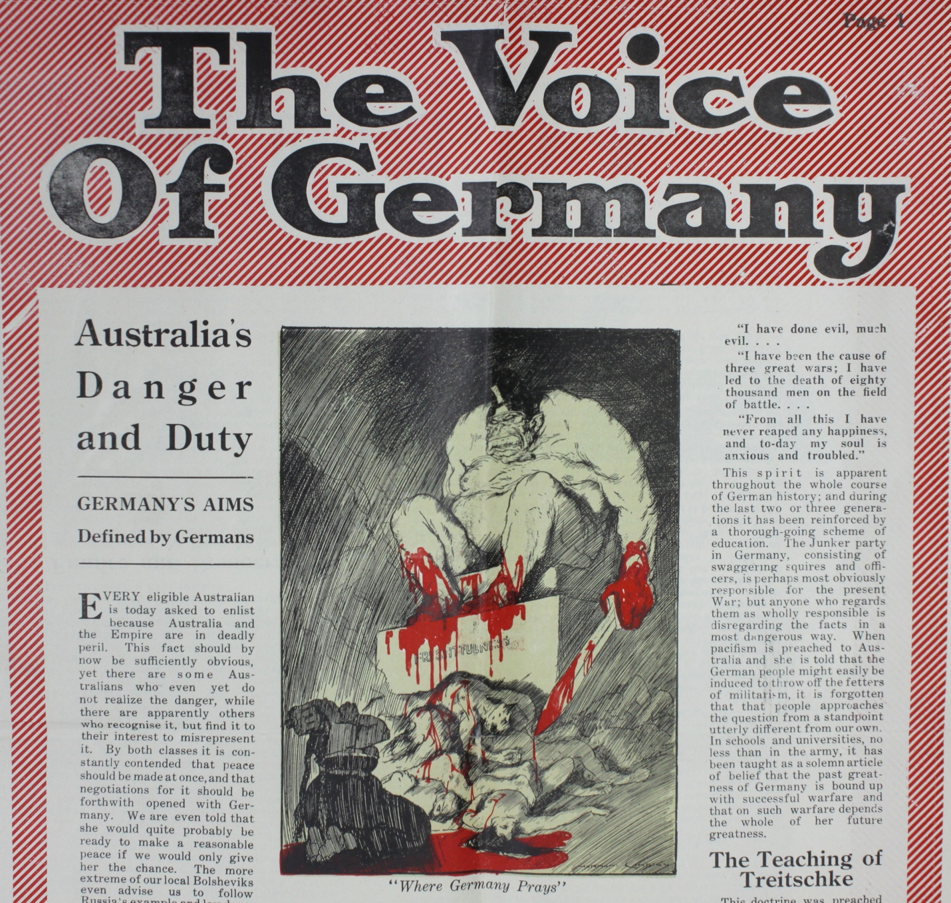 poster of an article depicting a bloody beast