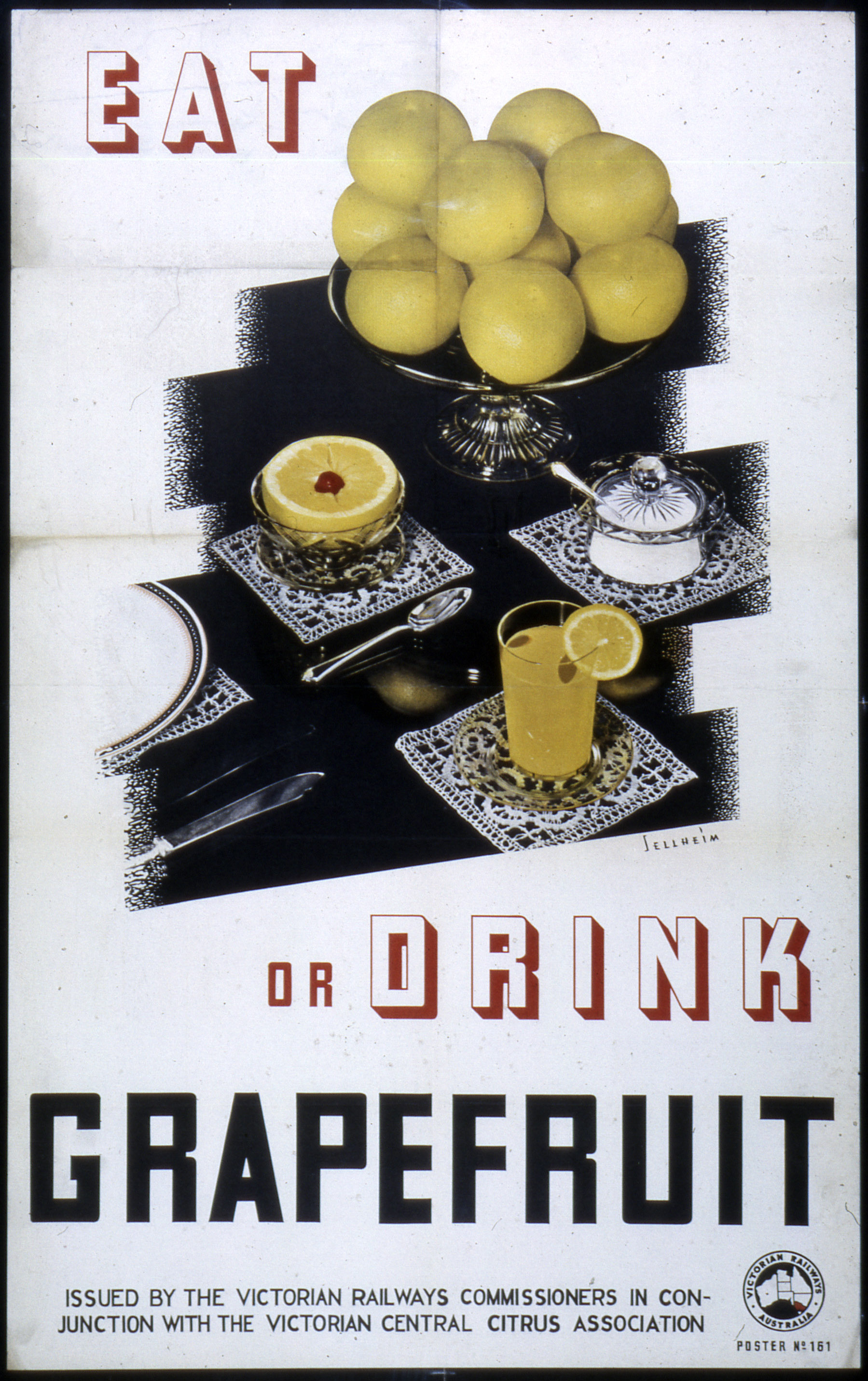 Eat or Drink Grapefruit poster by Gert Sellheim, circa 1930s