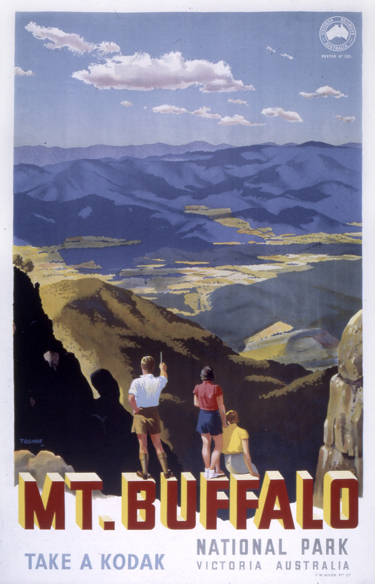 Mt Buffalo poster by Percy Trompf