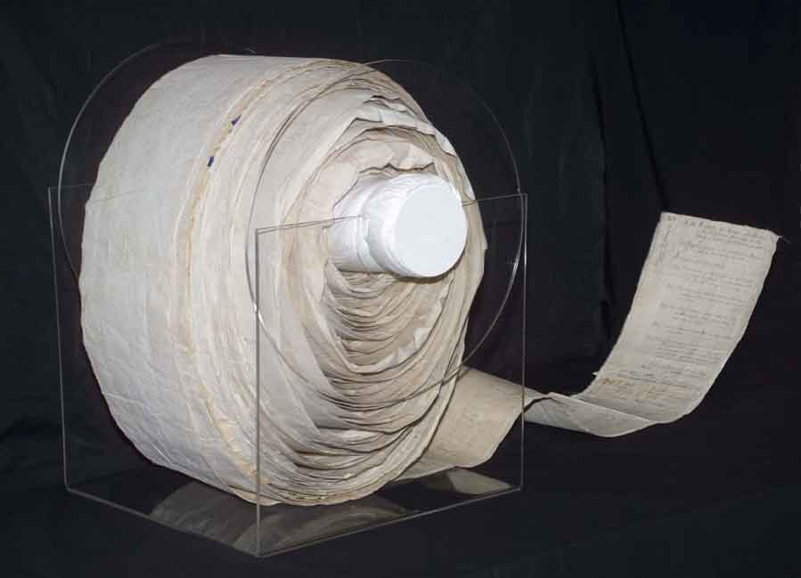 photo of reel of paper