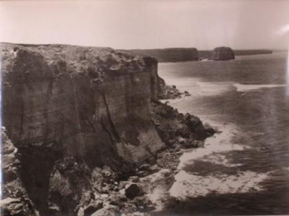image of a clif and coastline