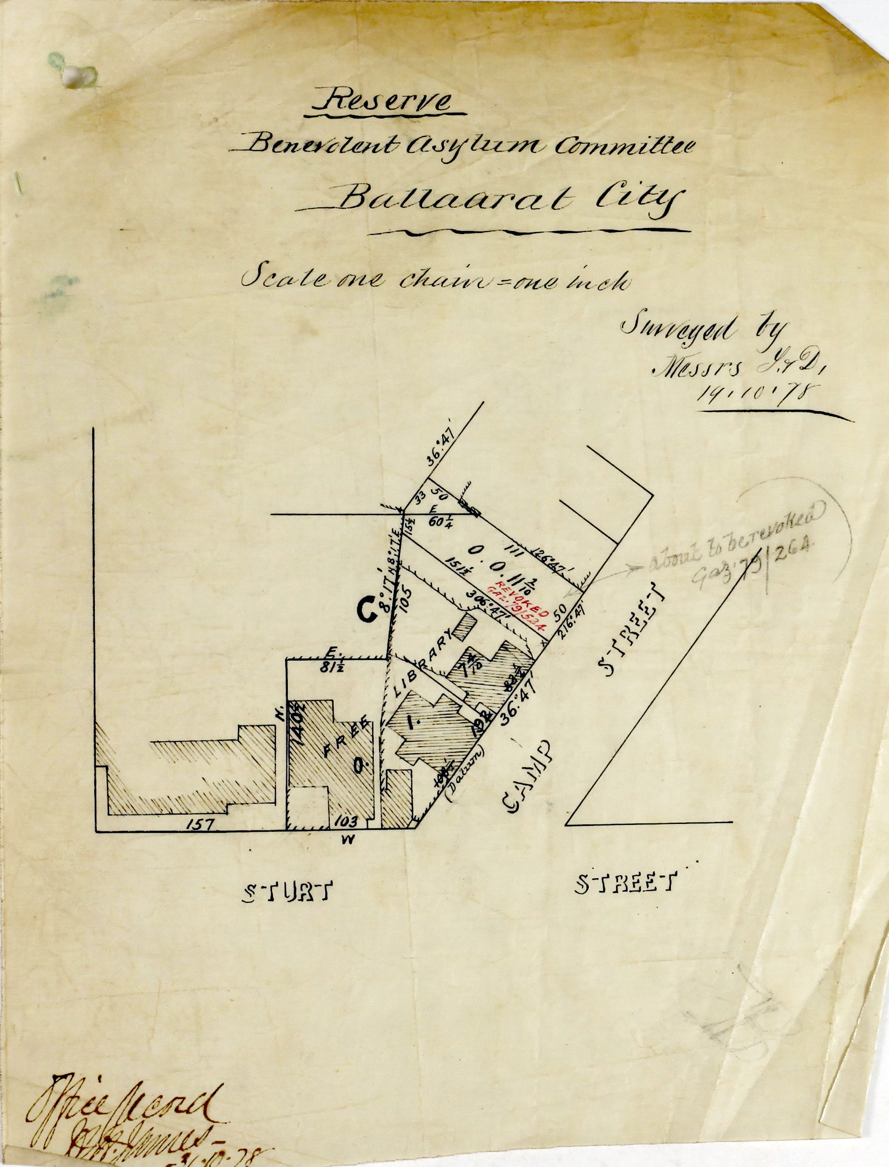 old plan or map