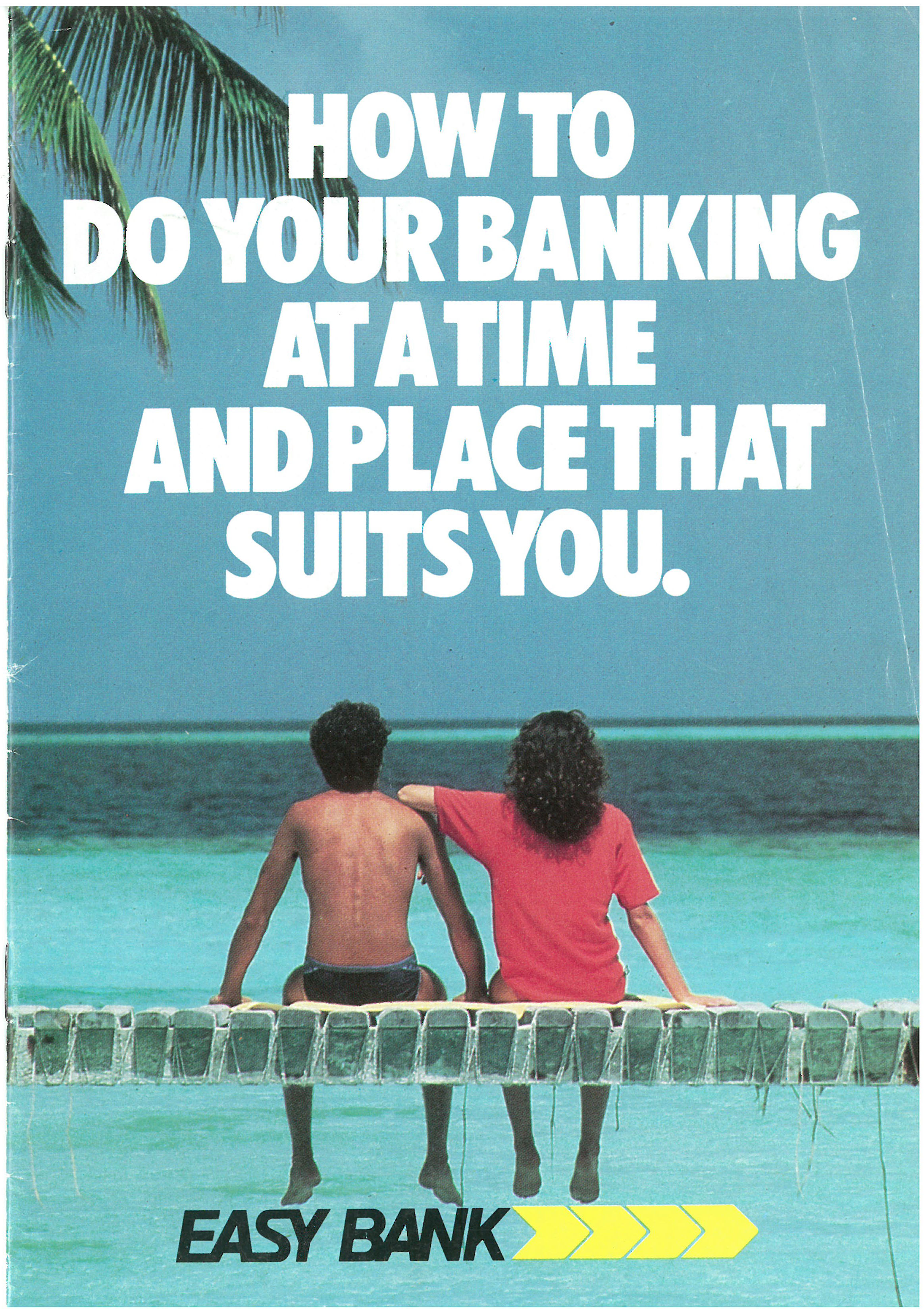 A brochure about easy banking from 1986