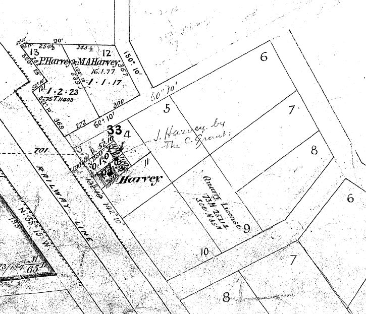 Image of portion of Parish 'Putaway' Plan M65B_1, showing allotment 9.