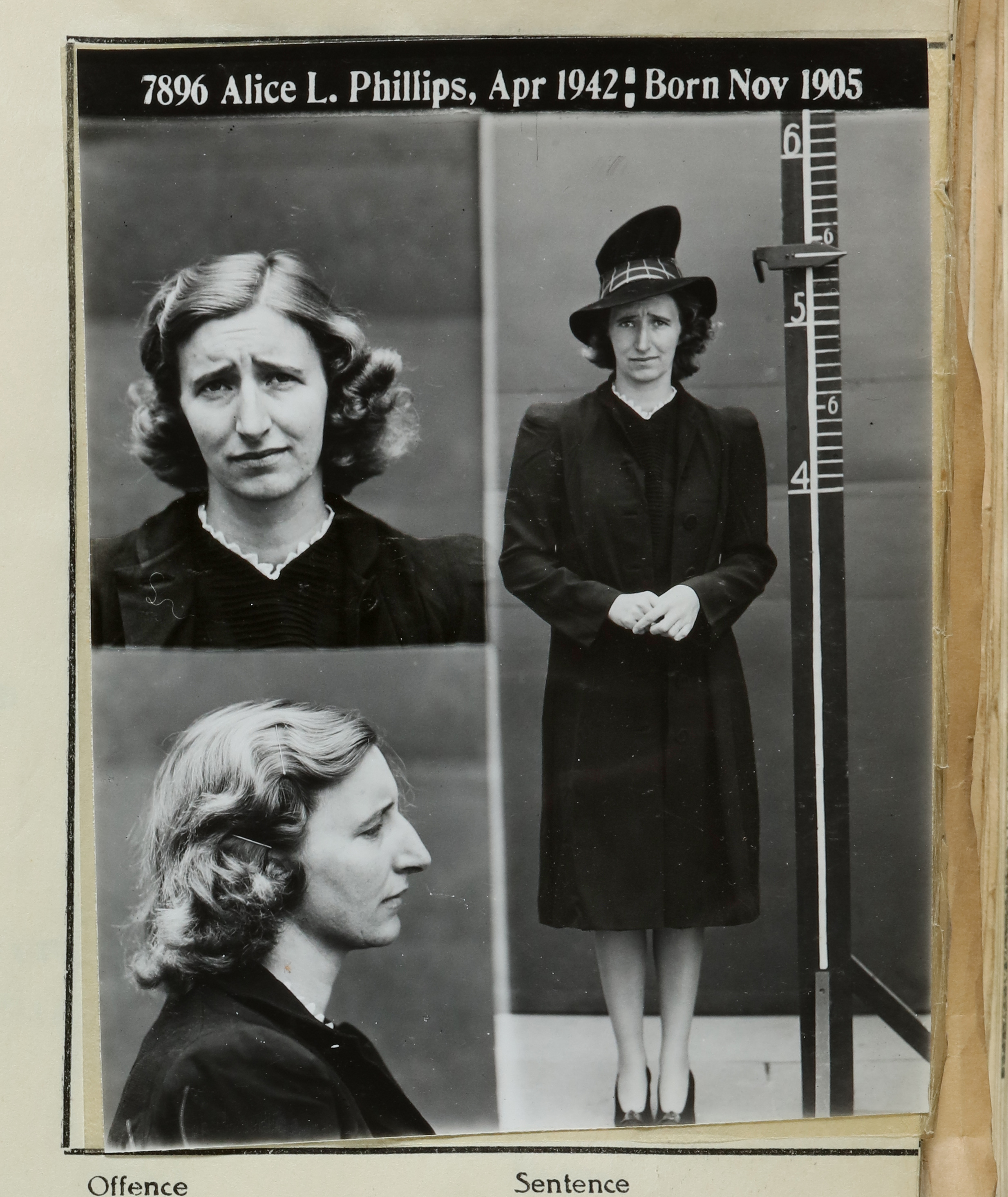 Alice L Phillips April 1942
