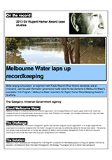 Melbourne Water Case Study Cover