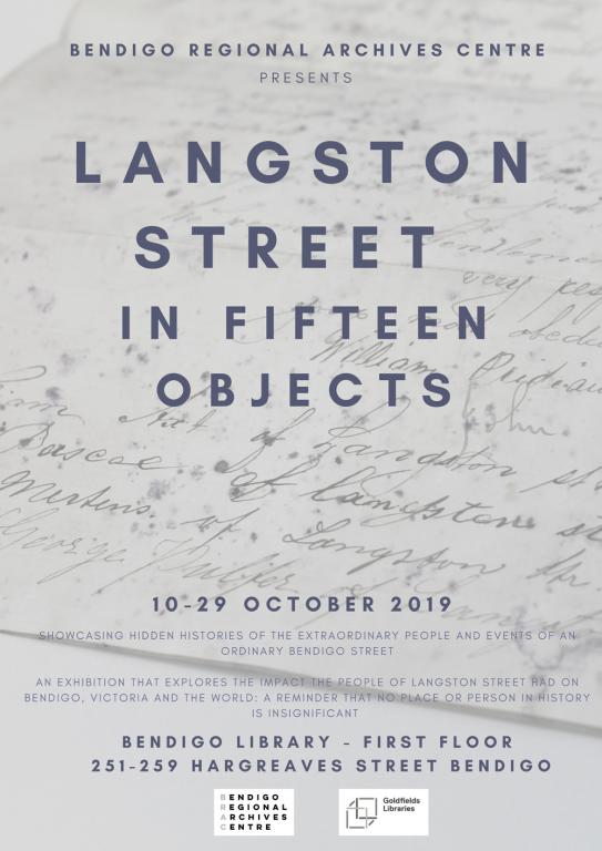 Langston Street in Fifteen Objects Poster  ​