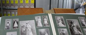 Archival materials on display