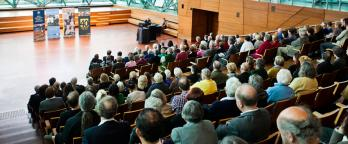 An image of a crowded auditorium