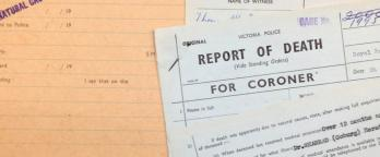 Image of a historical death report
